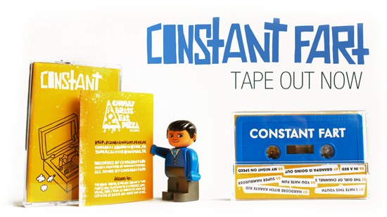 CONSTANT FART DEMO TAPE 2012 PUNK LILLE CBEP5 CHUBBY BRATS EAT PIZZA RECORDS